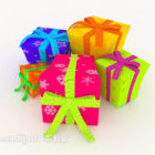 Kotak Hadiah Berwarna-warni Xmas