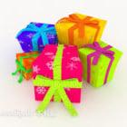 Colorful Gift Box Xmas Birthday