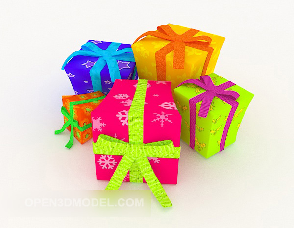 Colorful Gift Box Xmas Birthday
