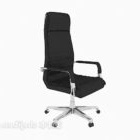 Chaise de bureau noire d'entreprise