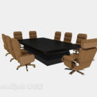 Company Office Meeting Table Chair Set