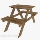 Połączone Dzienniki Stół I Krzesło