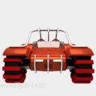 Kereta Sci-fi Perlumbaan Sejuk