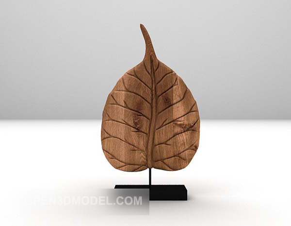 Decorative Leaf Ornaments On Stand