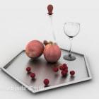 طبق فاكهة ركن الماس