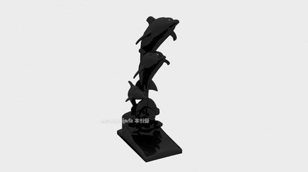 Dolphin Figurine Home Furnishing