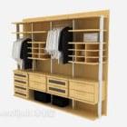 أثاث خزانة ملابس مفتوح بدون باب