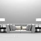 Dubbelsoffa för att njuta av möbler