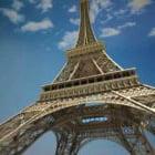 Eiffeltornets höga detaljer