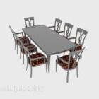 Åtta-person bordsstol