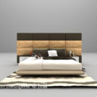 European Bed With Backwall And Carpet Furniture