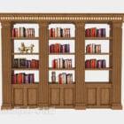 Perabot Rak Buku Klasik Eropah