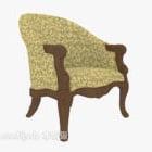 Europeiska krossade blommönster Relax Chair