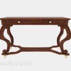 Europäischer antiker Holztisch