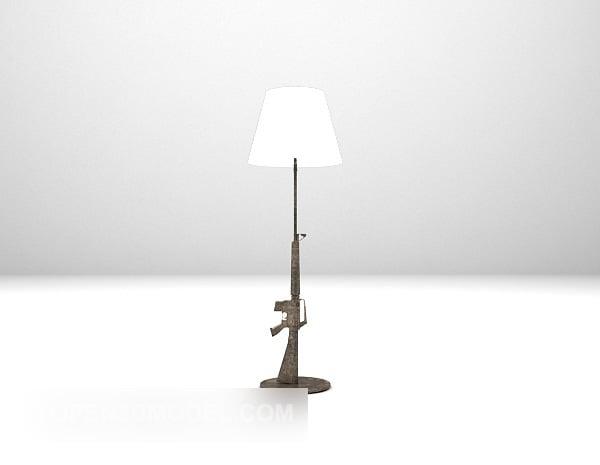 European Gun Shaped Floor Lamp