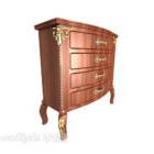 Europeiska vintage-lådeskåpet