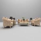 European Style Light-colored Sofa Table