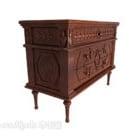 European Vintage Retro Exquisite Side Cabinet
