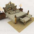 European Retro Gorgeous Double Bed