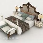 European Retro Gorgeous Home Double Bed