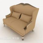 European-style Back-to-back Double Sofa