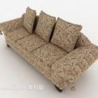 Europeisk stil krossad blommig soffa