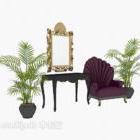 Entréskåp i europeisk stil, enkel soffa