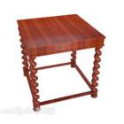 Mahoniowy stolik w europejskim stylu