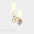 Europæiske luksus lysekrone væglampe