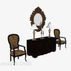 Gabinetto segreto di stile europeo con la sedia