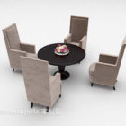 European Table And Cubic Chairs