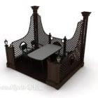 Chaises de table de salon de thé européen