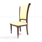 Wykwintne krzesło do jadalni w stylu europejskim