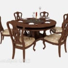 Exquisite European Style Dining Table Chair