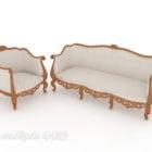 Exquisite European Wooden Sofa