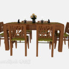 Exquisite Garden Dining Table Chair