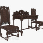 Exquisite Solid Wood Table Chair
