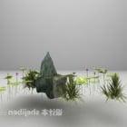 偽の山の池の植物の木