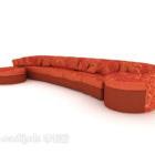Festlig röd soffadesign
