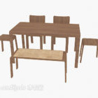 Fieldsolid trä matbord stol