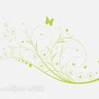 Lysrör av grön vägg