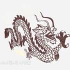 飛竜柄の壁画