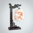 Chinese Dragon Texture Table Lamp