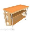 عربة الطعام الخشبية