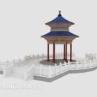 Four-corner Chinese Pavilion