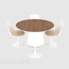 الحداثة كرسي المائدة المستديرة أربعة أشخاص