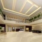 Białe czyste wnętrze sali wystawowej