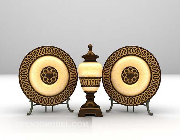 European Ring Decor With Vase