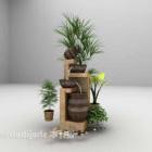 庭の鉢植えの植物の装飾