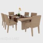 Tavolo da pranzo e sedia da giardino